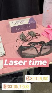 Getting ready to perform a HALO laser skin resurfacing treatment